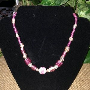 Handmade Glass beaded Necklace!